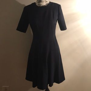2019 BR Navy Blue fit and flare dress
